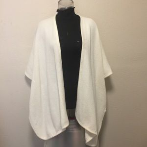 Ivory Sweater Wrap/Cape
